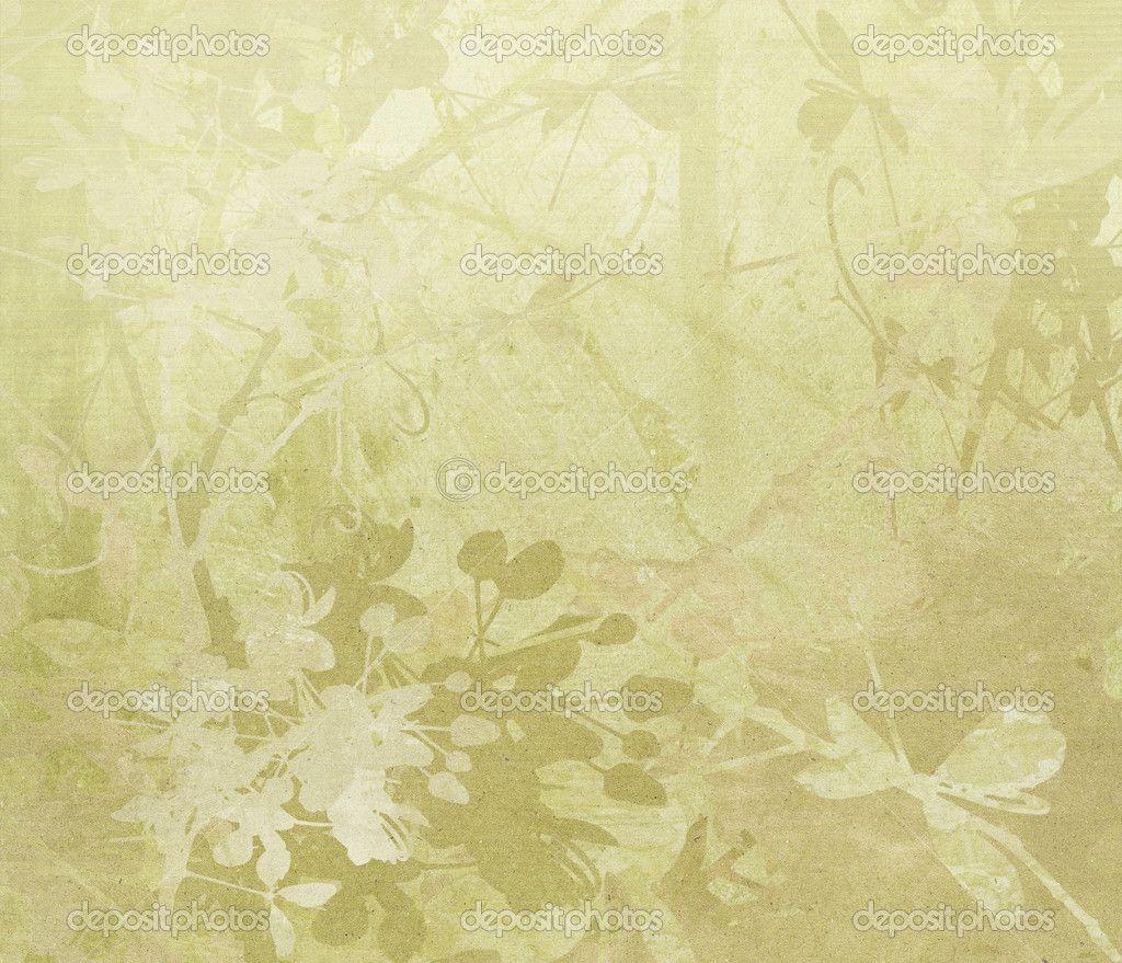 Flower Border Art On Paper Background Stock Photo Luceluceluce