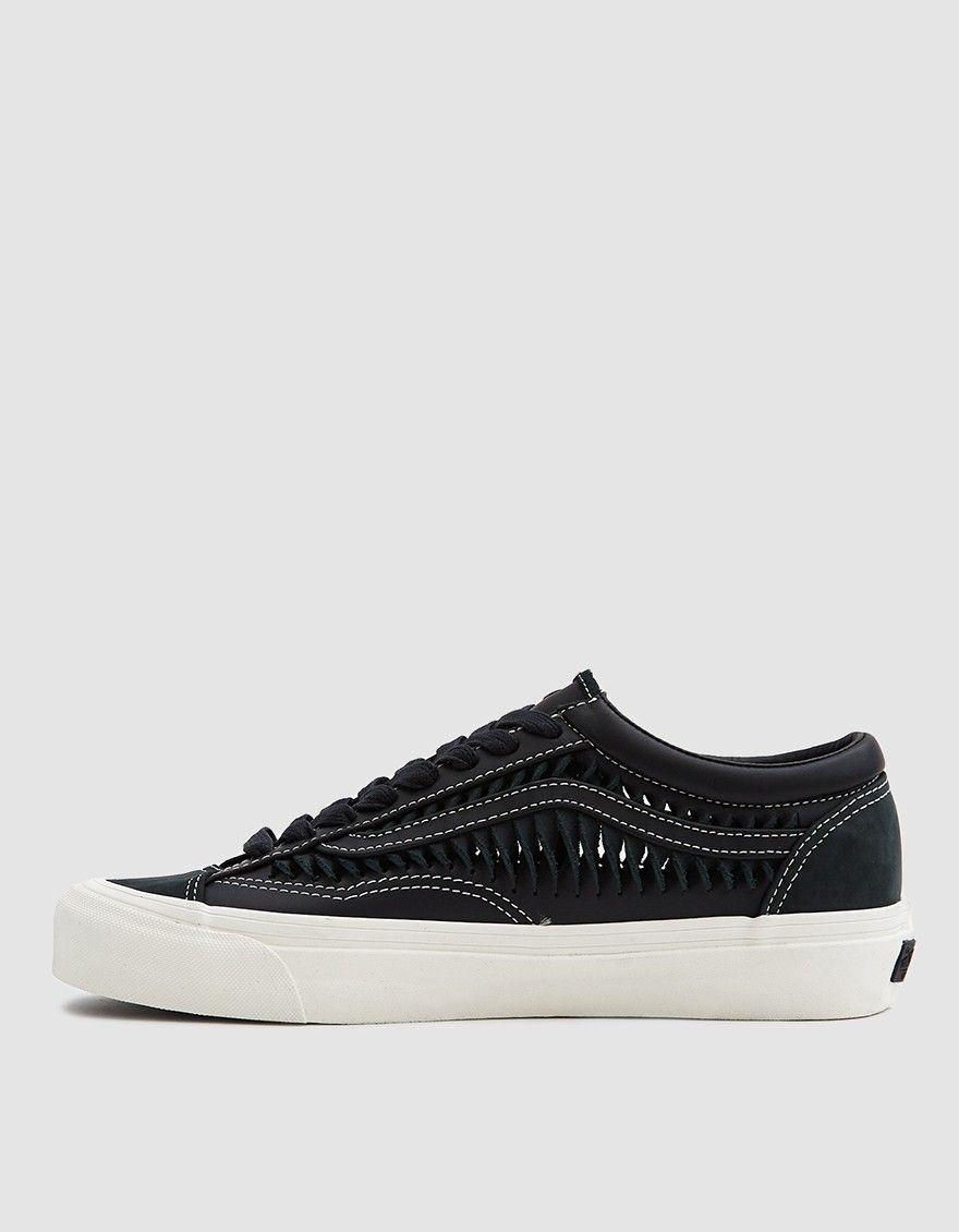 da0cc8f6eb Vault by Vans   Twisted Leather Style 36 LX Sneaker in Black ...