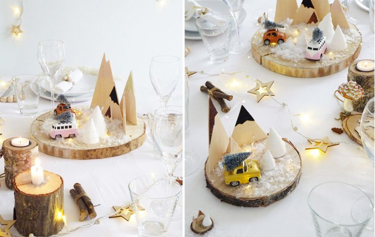 Decoration Table De Originale Et Ludique Des Rondins De Bois