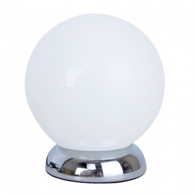 Modern globe touch table lamp in brushed chrome house things modern globe touch table lamp in brushed chrome aloadofball Images