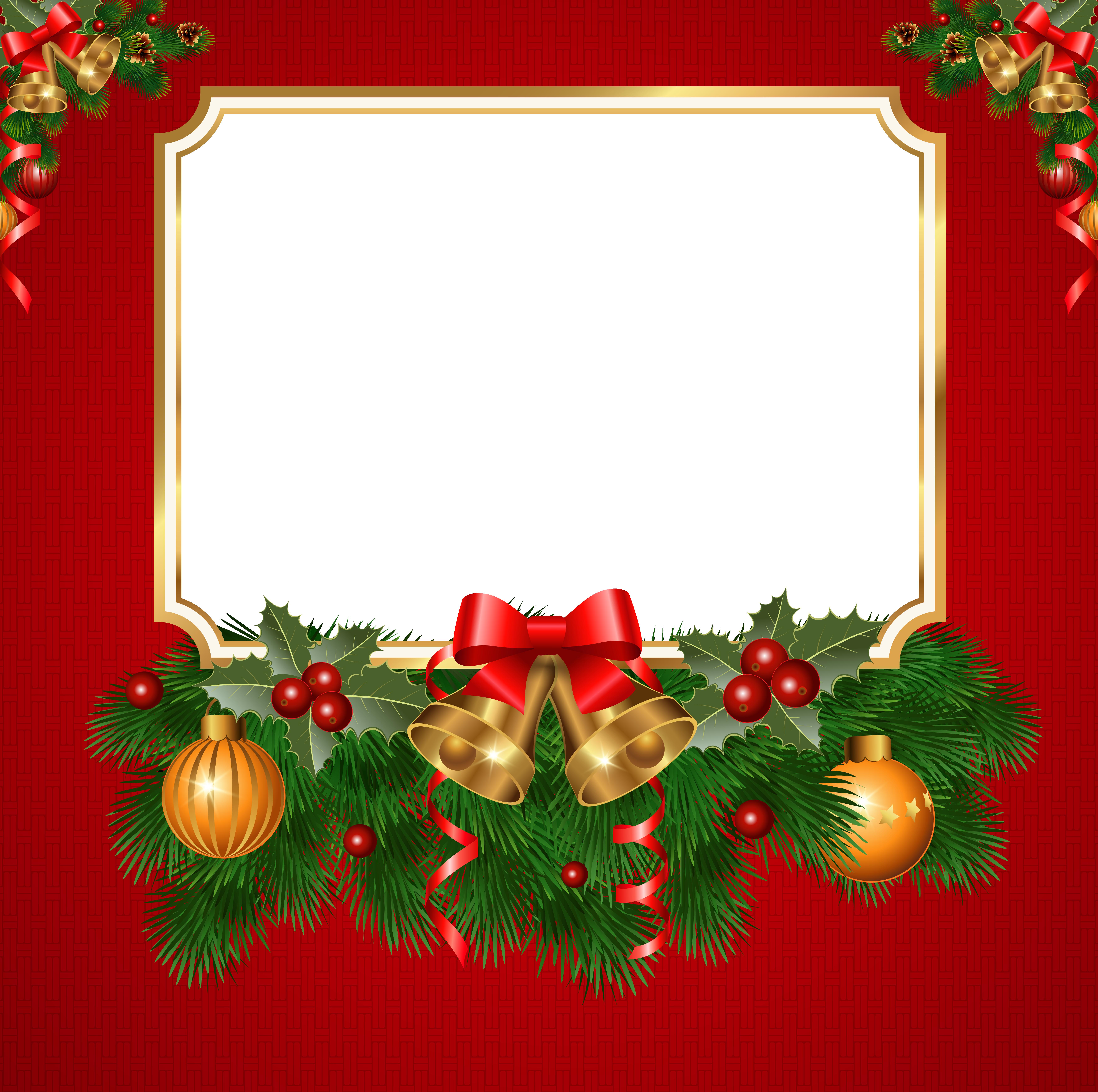 Christmas Transparent Red PNG Frame | Christmas | Pinterest ...