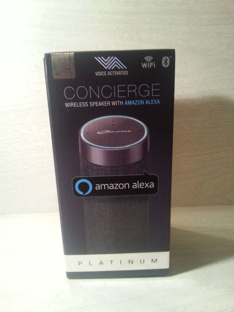 Concierge Wireless Speaker With Amazon Alexa Platinum