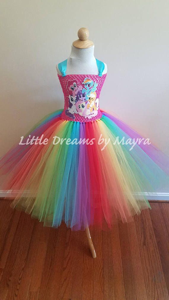989e1ea33 Vestido inspirado en My little pony Vestido de arcoiris