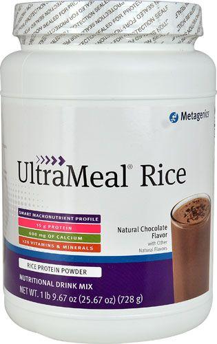 Metagenics UltraMeal® RICE Protein Powder Natural Chocolate
