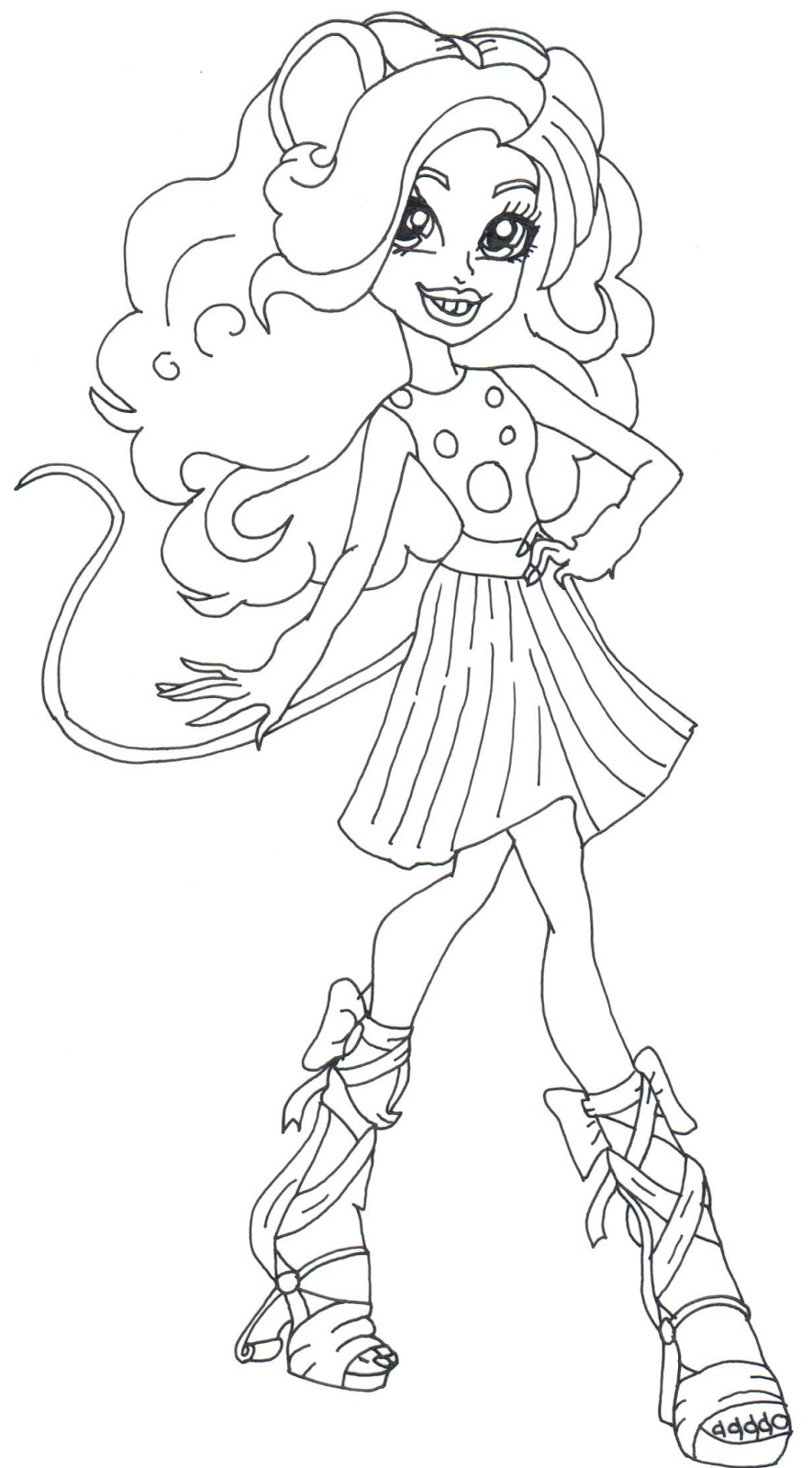 Free Printable Monster High Coloring Pages Mouscedes King Monster Monster High Printables Monster High Coloring Pages