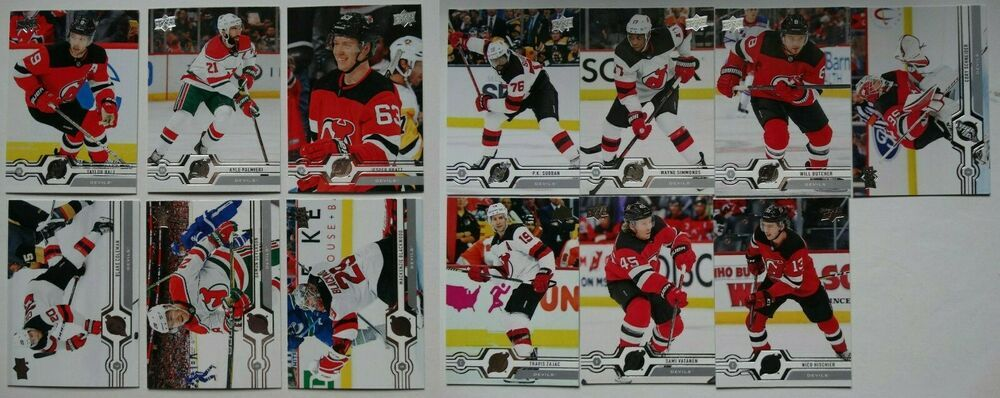 2019 20 Upper Deck Ud New Jersey Devils Series 1 2 Team Set 13 Hockey Cards Ebay In 2020 Hockey Cards Baseball Cards Hockey
