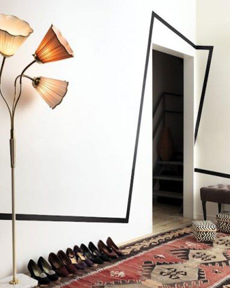 masking tape 12 id es pour d corer un mur blanc d co tape pinterest decor interior and home. Black Bedroom Furniture Sets. Home Design Ideas