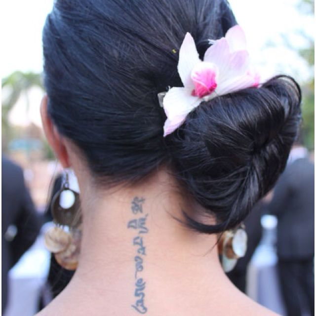Neck Girl S Tara Mantra Tattoos: Tattoo On My Neck! My Tattoo, The Mani Mantra! #tattoo