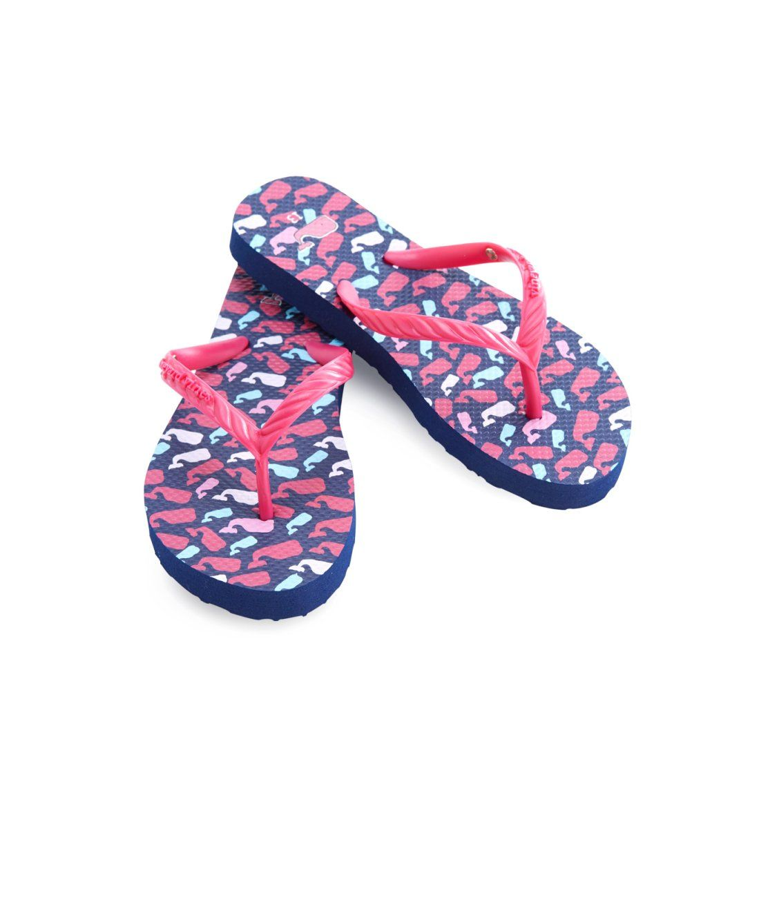 5f03c08a1 Girls Scattered Whales Print Flip Flops