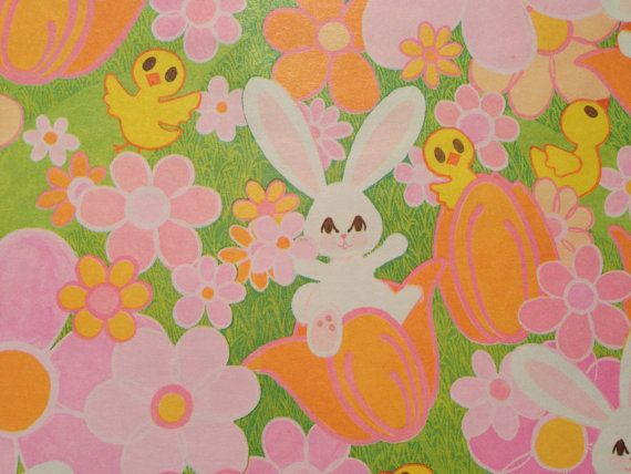 Vintage gift wrapping paper happy easter paper happy easter vintage gift wrapping paper happy easter by thegooseandthehound negle Gallery