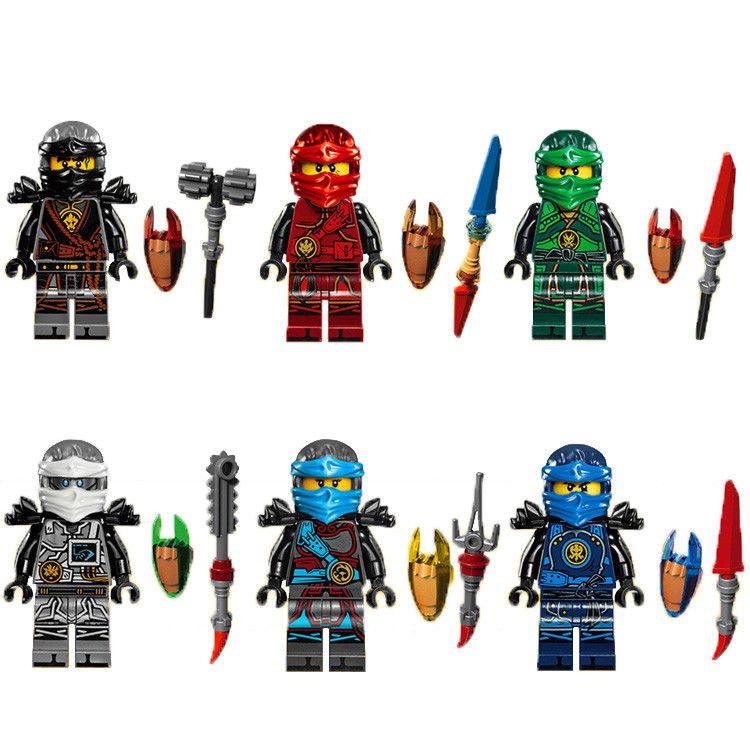 Wu Jay Ninjago Minifigures // Golden Lloyd Cole Mini Fig Fits Lego Zane Kai