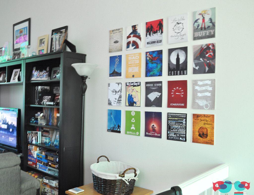 Canvas Prints Using Mod Podge From Thelovenerds Nerd Decor Geeky Bedroom Nerd Decor Geek