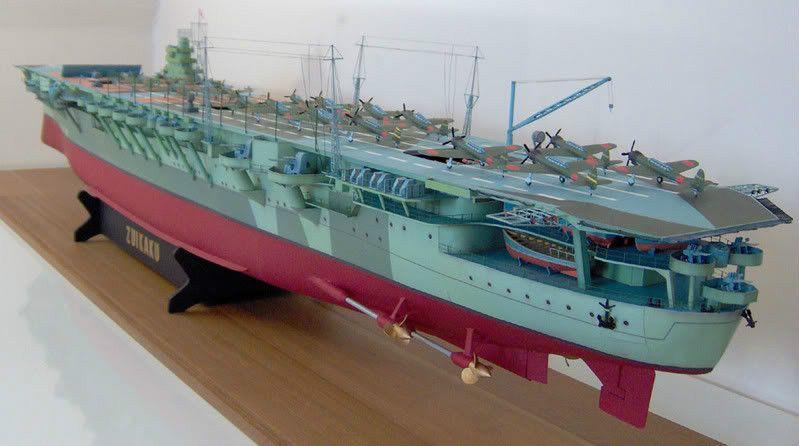 088 Shokaku Japanese World War II Aircraft Carrier Paper Model PDF ...