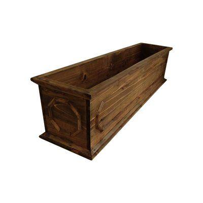 Leisure Season Hamilton Cypress Planter Box Planter Boxes Fence Panels Metal Planter Boxes