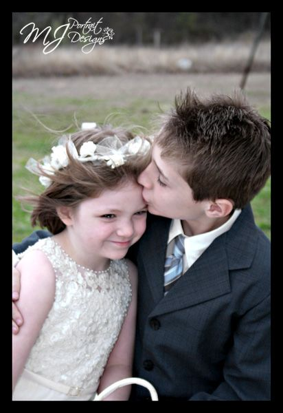 Little Boy Kissing Little Girl At Wedding Reminds Me Of A Picture