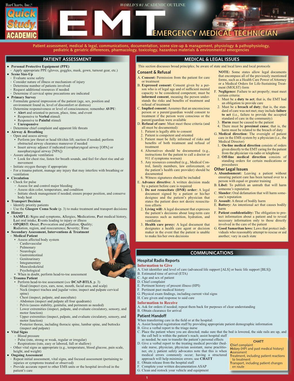 Emt- Emergency Medical Technician (eBook Rental) | Products