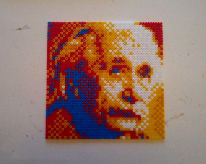 Albert Einstein bead portrait by Nestesaippua