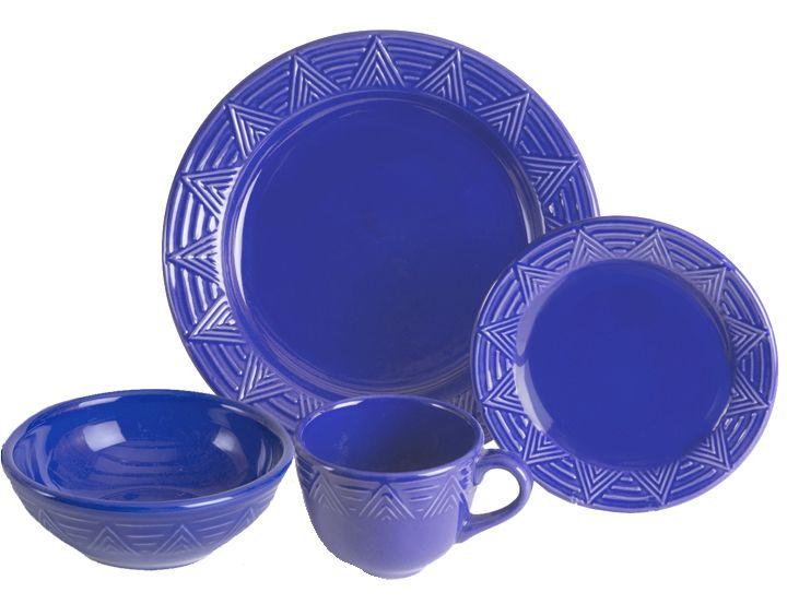 Hf Coors Aztec Dinnerware Cornflower Blue My Mother In Law Got