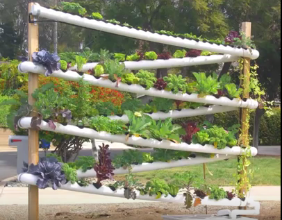 Diy Hydroponic Garden Tower Lets You Grow Over 100 Plants In Less Than 10 Square Feet On Hydroponic Gardening Vertical Hydroponics Hydroponics System