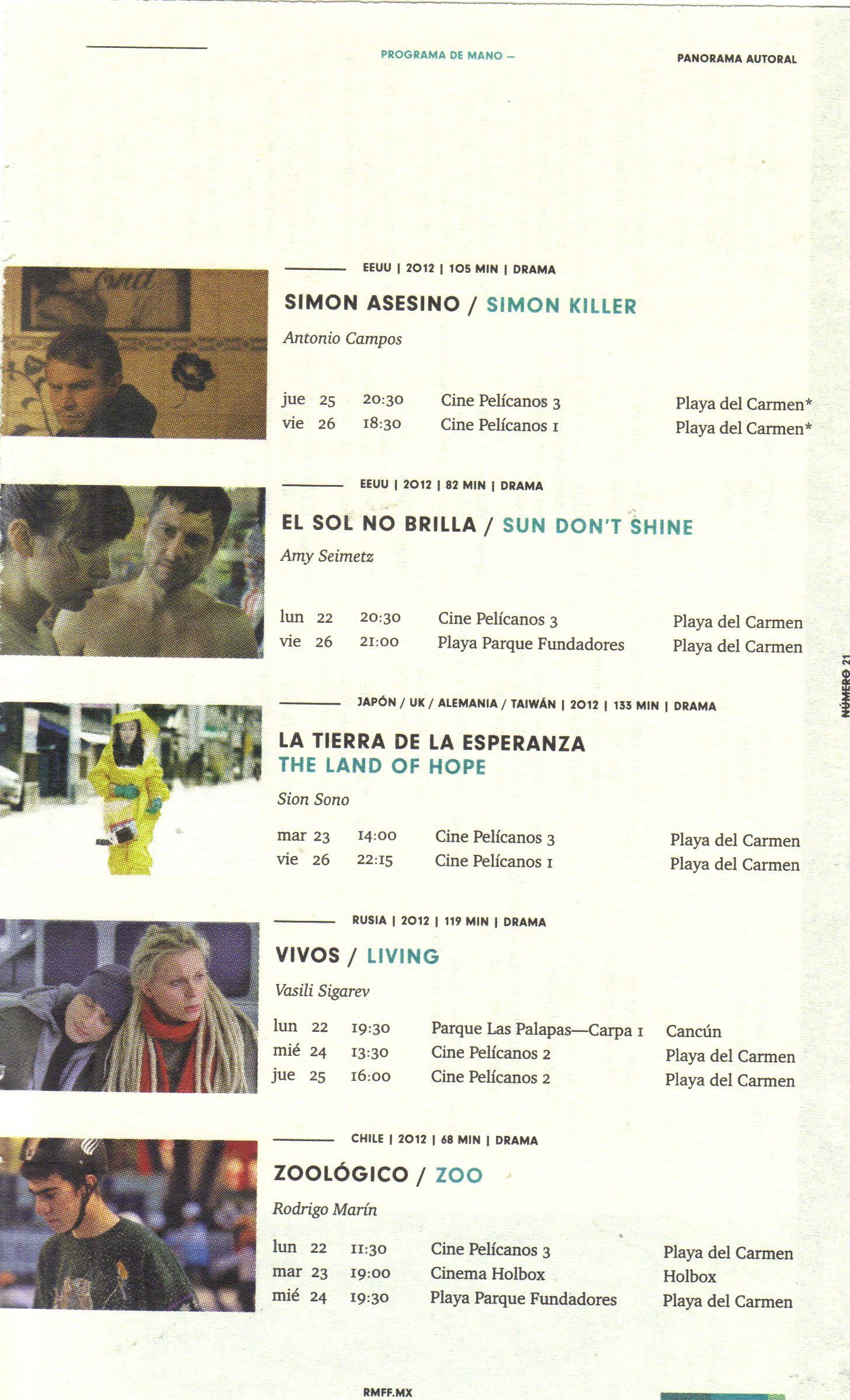 Riviera Maya Film Festival 2013 Official Program Guide