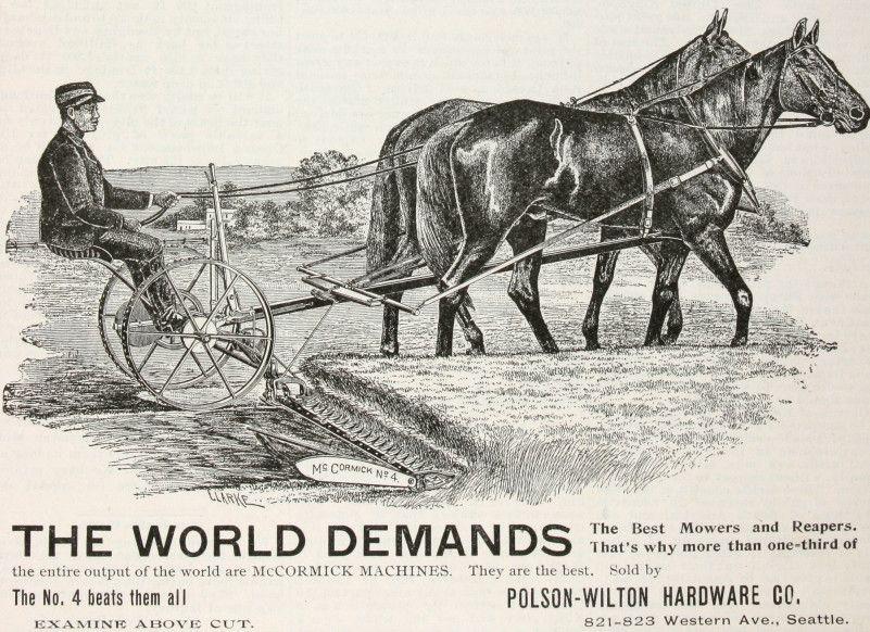 McCormick Reaper | mccormick no 4 reaper 1896 company advertising agency mccormick ...