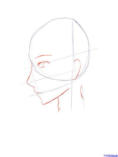 Anime Angry Face Side View How Body Drawing Side View Of Face Face
