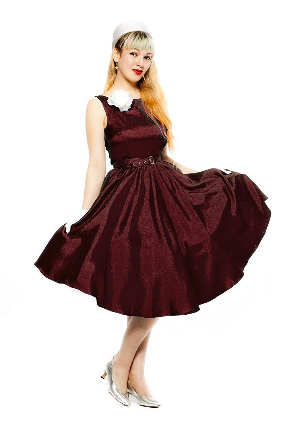 Burgundy Wine Matte Satin Retro 50s Fit And Flare Cocktail Dress Hey Viv Review More 50s Fashion Dresses Fit And Flare Cocktail Dress Black Satin Dress [ 1500 x 1000 Pixel ]
