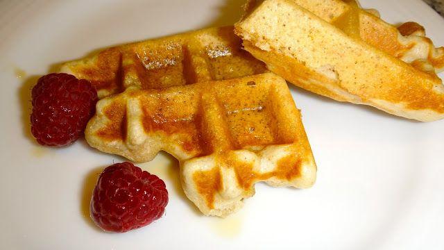 waffles de plátano