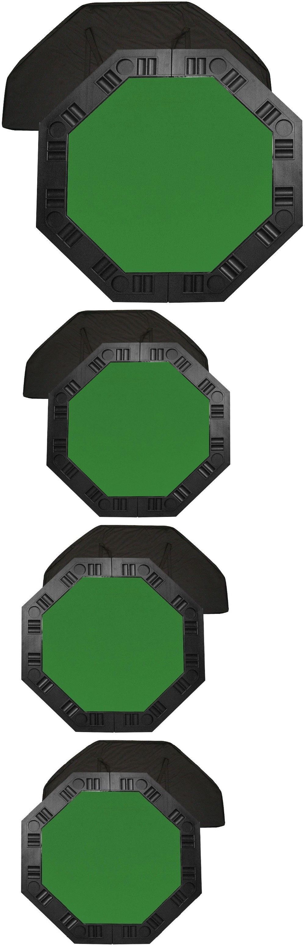 Card Tables And Tabletops 166572: Poker Table Top Portable Octagon 48 In.  Green Felt