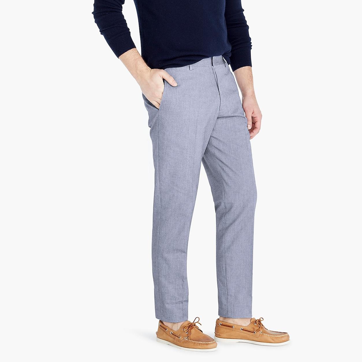 715393e94e56 Ludlow Classic-Fit Suit Pant In Union Blue Italian Cotton Oxford in ...
