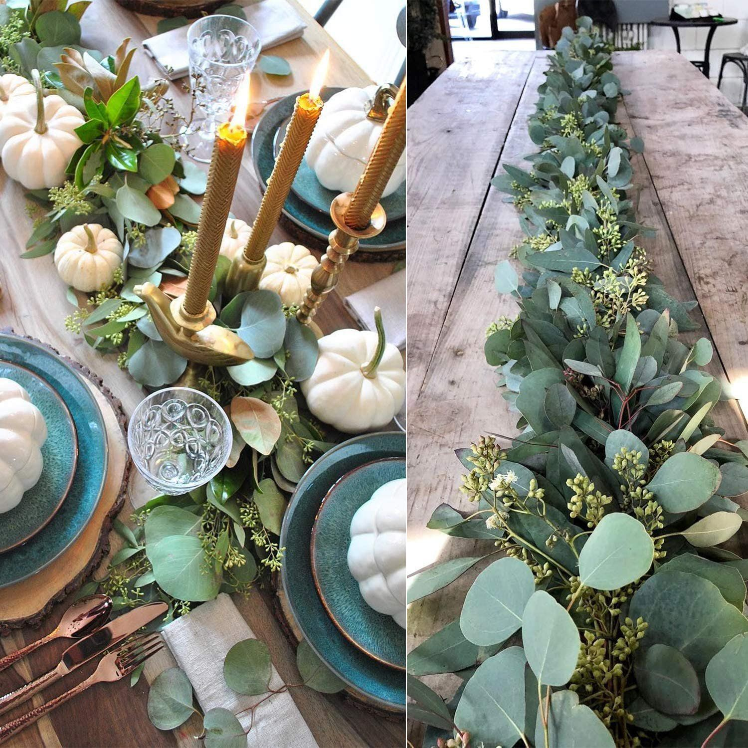 Coolmade 5.5Ft Seeded Eucalyptus Garland, Artificial Vines Faux Eucalyptus Leaves Table Garland Artificial Eucalyptus Garland Greenery Wedding Backdrop Arch Wall Decor - Walmart.com