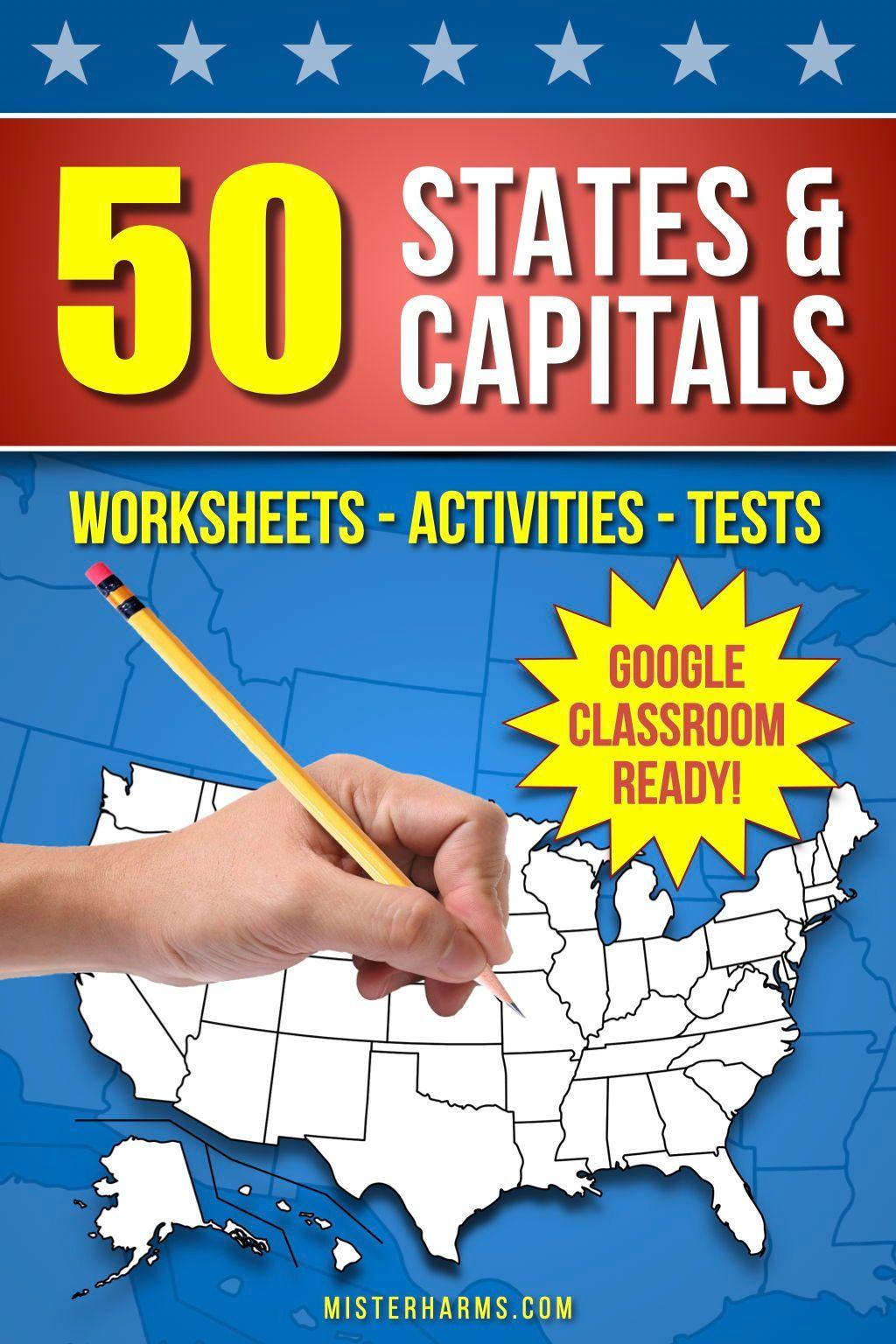 Help Your Students Learn The 50 States And Capitals Of The