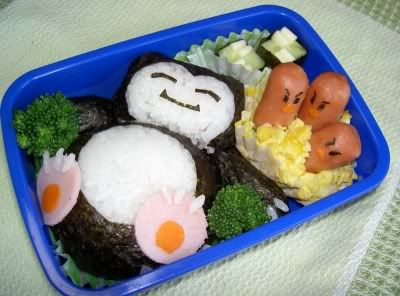 Adorable snorlax and dugtrio bento box. Anyone know how to make this??