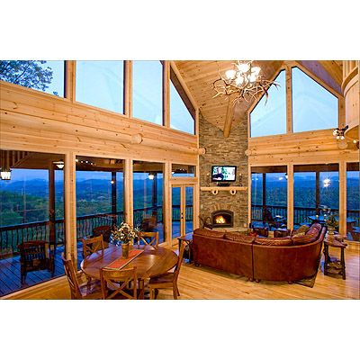 Escape to blue ridge cabin glass lodge 3 3 5 hot tub 325 night