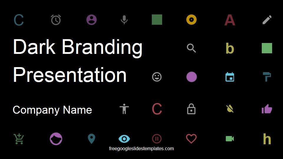 The Dark Branding Presentation is a creative Free Google Slides - fresh google docs certificate template