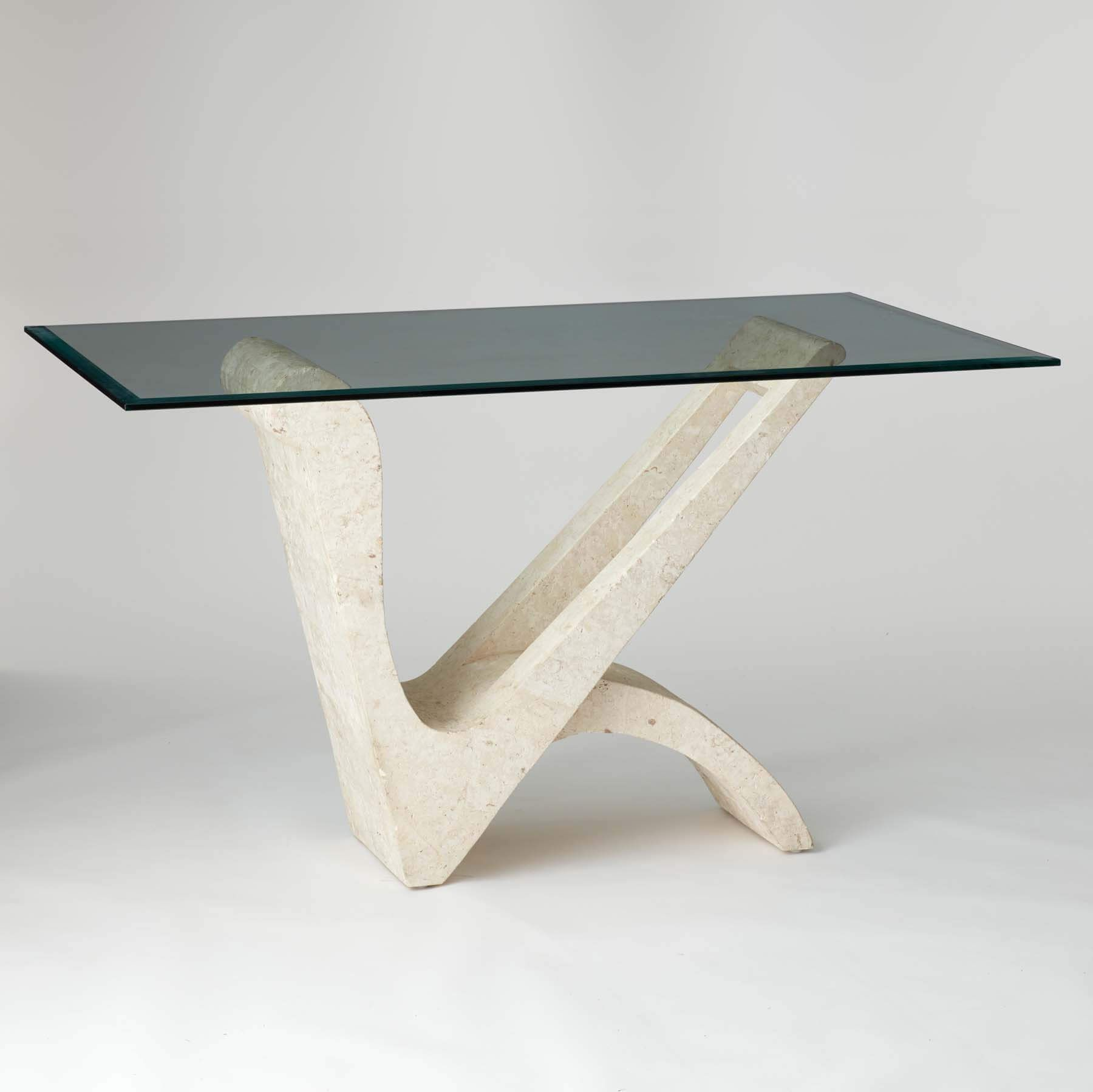 Vintage 1970s Italian Glass Console Table With Marble Stand In 2020 Glass Console Table Metal Table Legs Console Table [ 1799 x 1800 Pixel ]