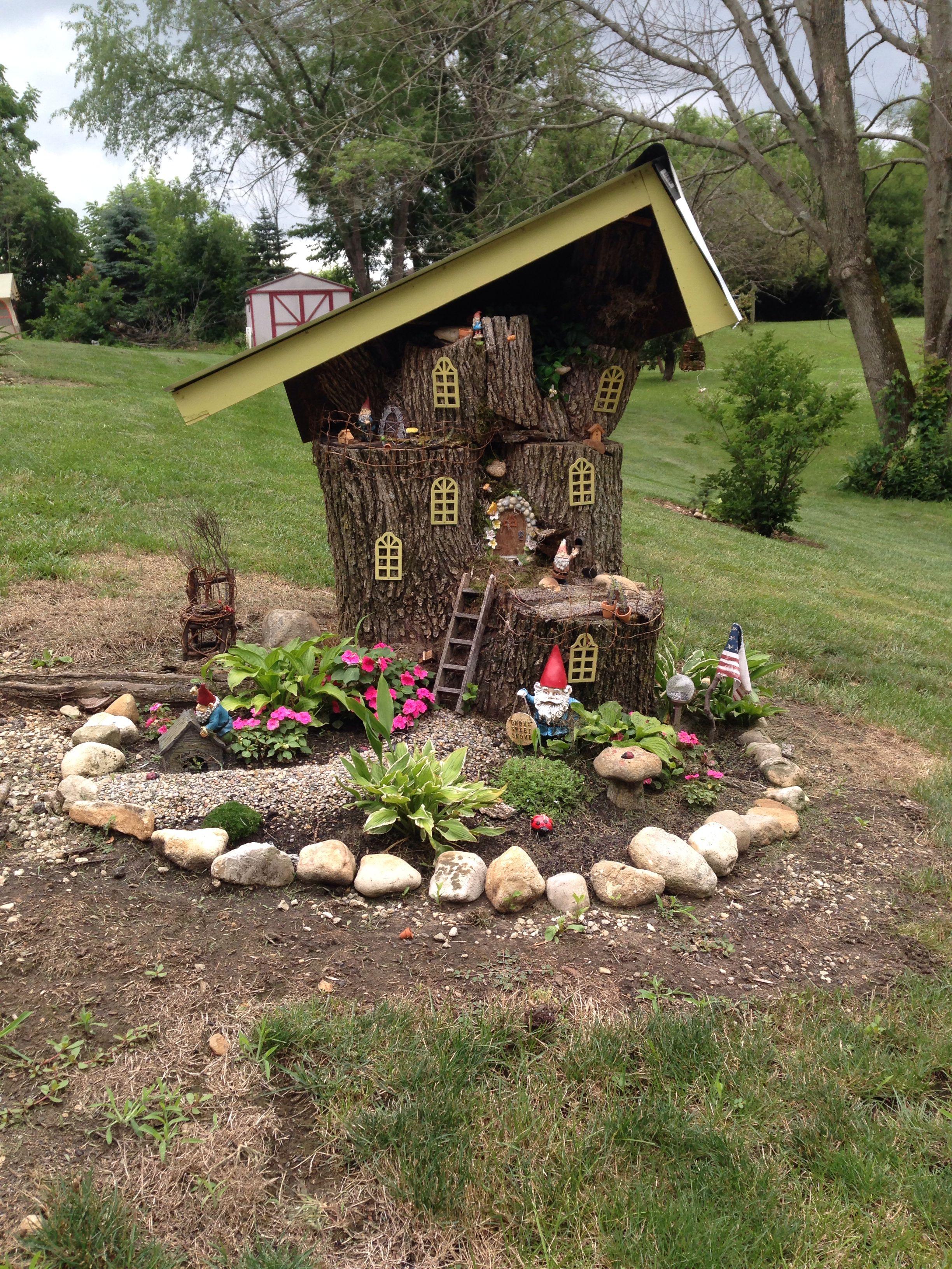 My Fairy Gnome House I Made Fairy Garden Diy Fairy