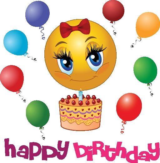 Happy Birthday Clip Art Icon Free Icons Birthday Cake Emoticon Png 512 521 Birthday Emoticons Happy Birthday Emoji Happy Birthday Smiley
