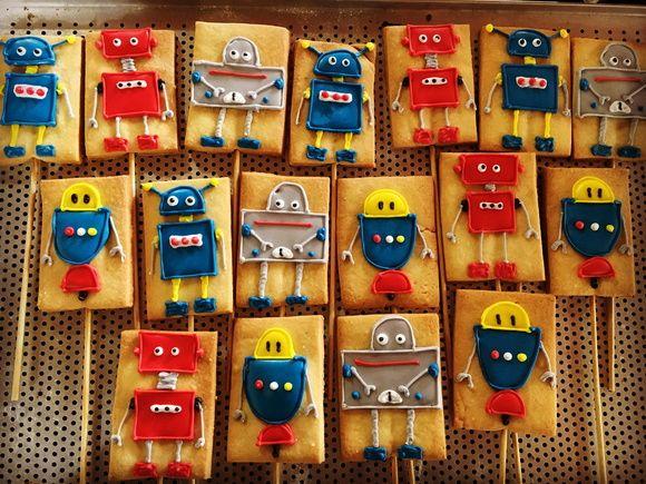 Biscoito decorado Robôs!!