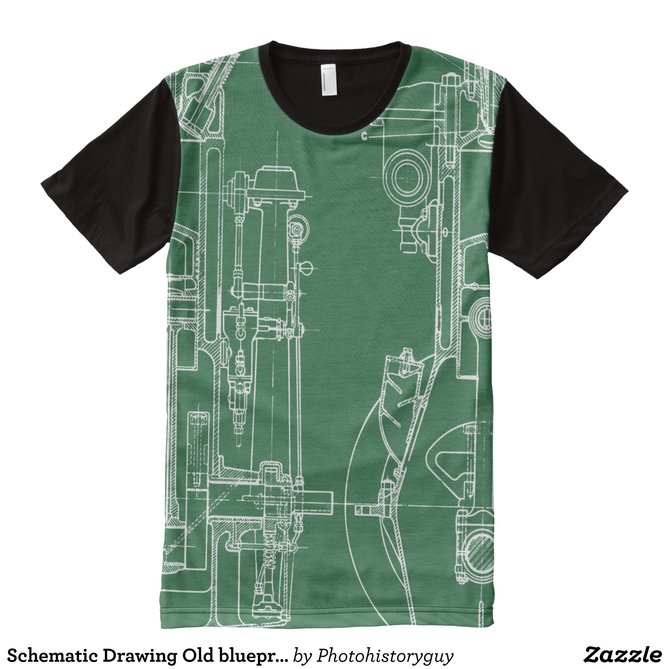 Schematic drawing old blueprint mechanical drawing all over print schematic drawing old blueprint mechanical drawing all over print shirt visually stunning graphic t shirts by talented fashion designers shirts malvernweather Choice Image