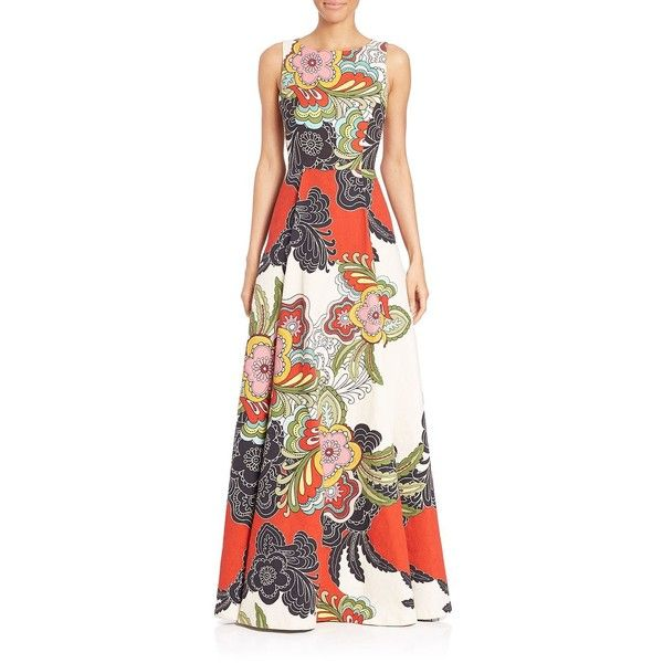 Alice and Olivia Rosanna Box-Pleat Gown ($1,370) ❤ liked on ...