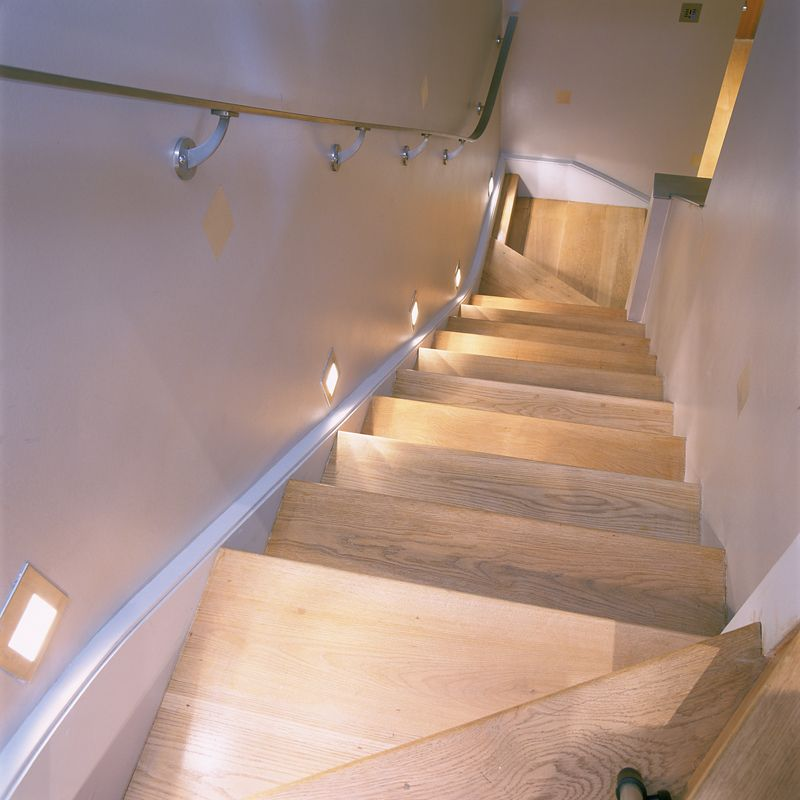 Lighting Basement Washroom Stairs: Oslo LED Floor Washer On Basement Stairs