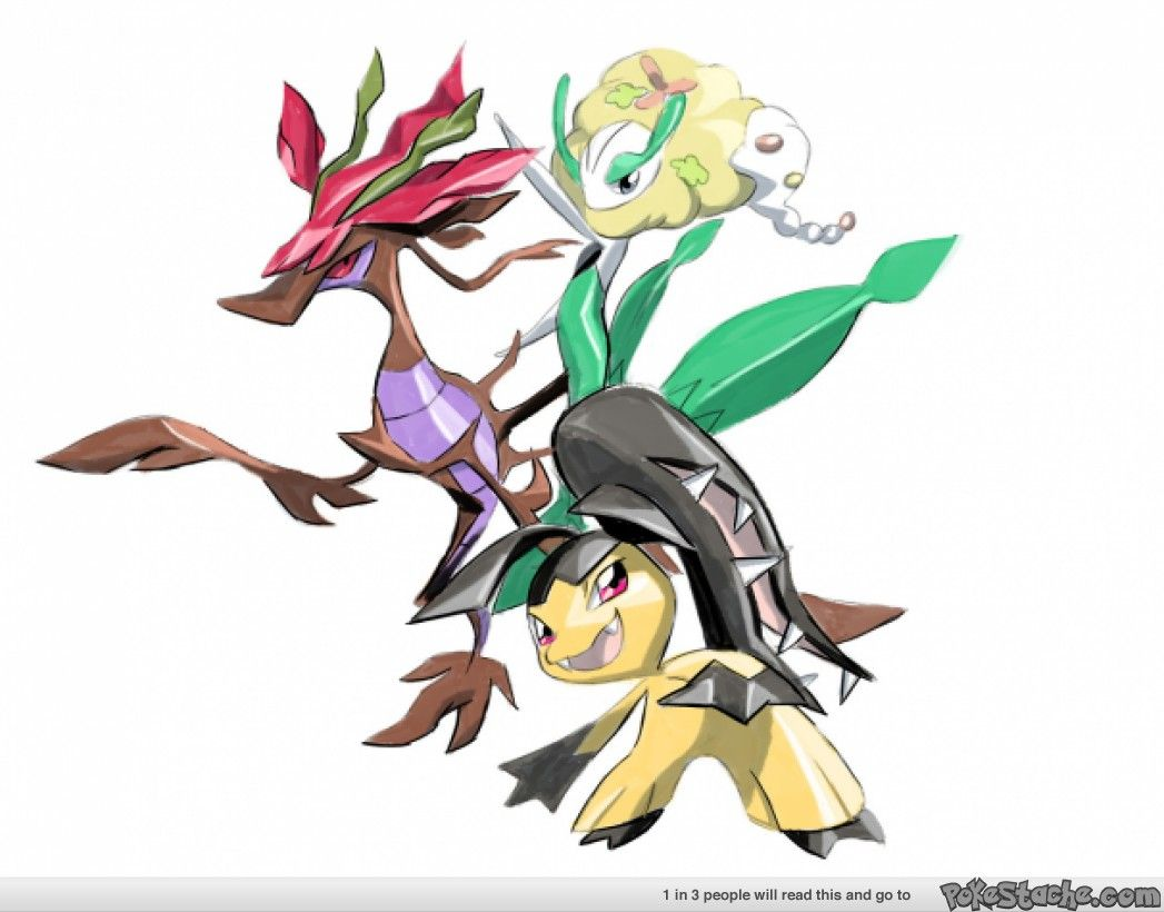deadly crew dragalge florges yellow flower and mawile
