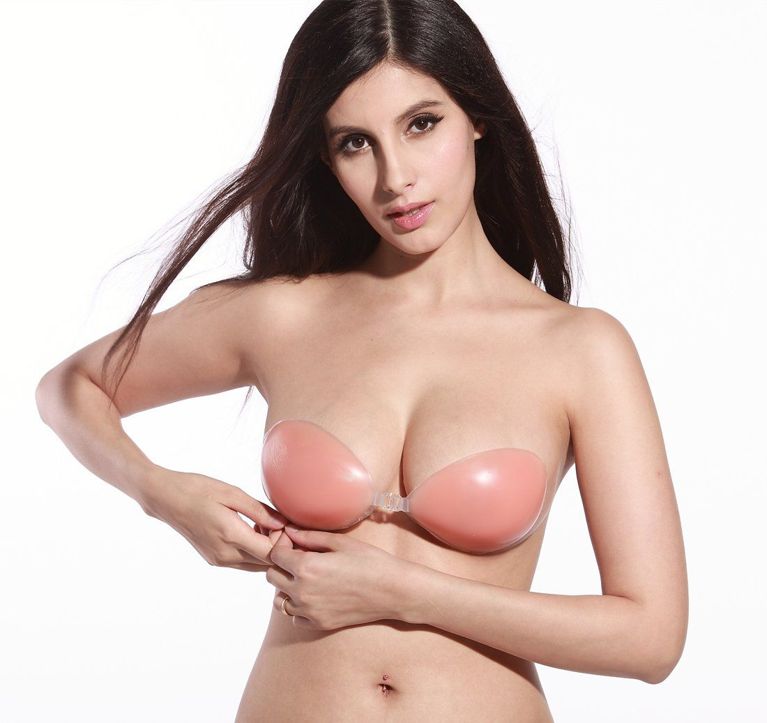ca4e734c26 Women s Invisible Adhesive Bra Strapless Sticky Bras