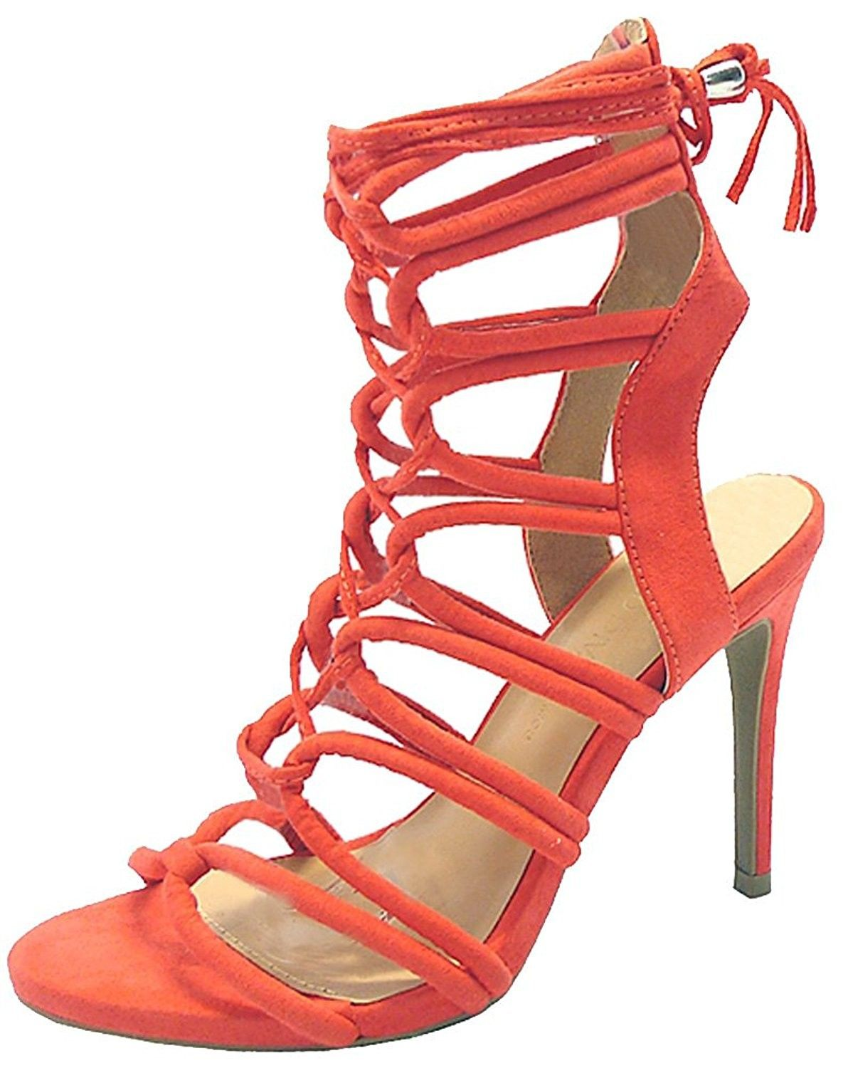 788f2744cd984 Women's Shoes, Sandals, Heeled Sandals, Women's Savvy 09 Gladiator Strappy  Lace Up Tie High Heel - Hot Coral - CI12NYTQDRR #WomensShoes #Sandals  #fashion ...