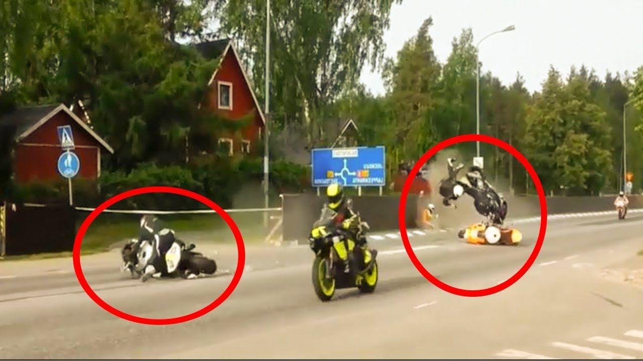 Motorcycle Crashes Moto Fails On The Road 2018 Road Bike Fail