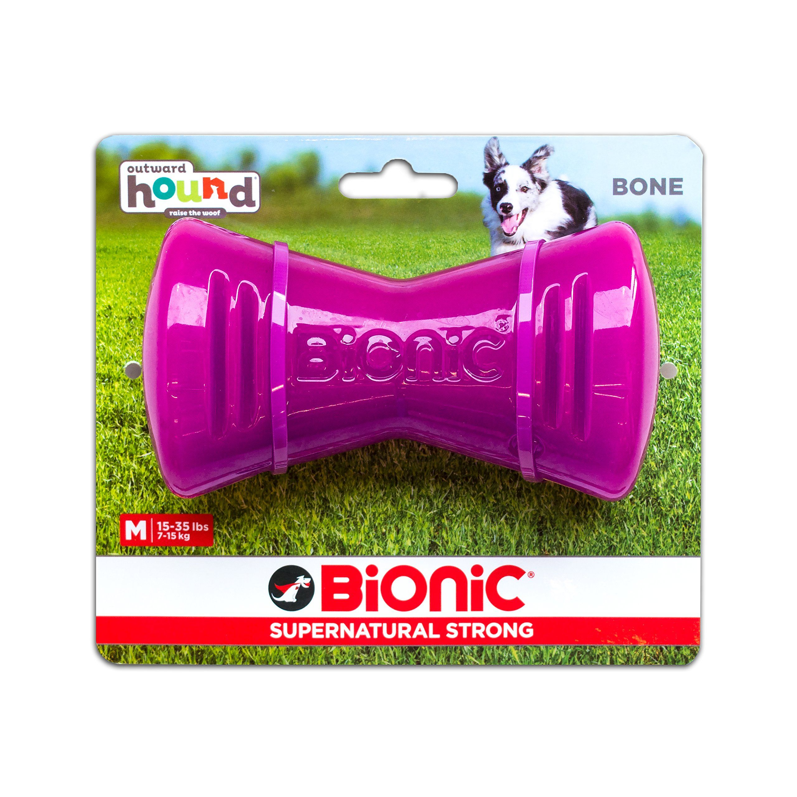 Tough Rubber Dog Bone Durable Chew Toy For Dogs By Bionic Medium