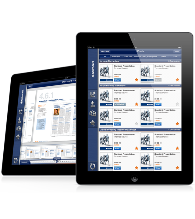 Schroders SalesConnect App Iphone app development, App