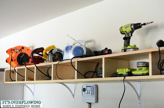 Organizing Power Tools What A Great System And DIY Project To Create The Perfect Spot