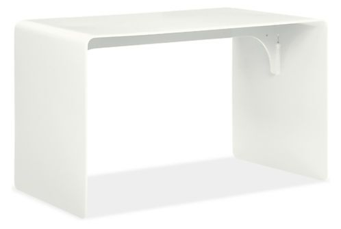 A minimal design with unlimited uses, the Cooper bench can be placed indoors or out. Made from solid aluminum and given a durable powder-coated finish, each bench features the subtle markings that only come from hand-welding. Please note: Yellow, Blossom, Orange and Red not suitable for outdoor use.